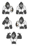 Gorilla lab suit collection Stock Photo