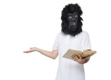 Gorilla man confused Royalty Free Stock Image