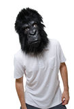 Gorilla man confused Stock Photos