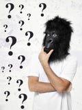 Gorilla man thinking Stock Photo