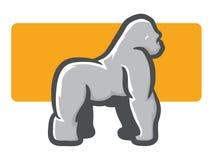 Gorilla Mascot Side View Images libres de droits