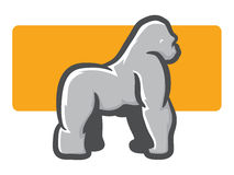 Gorilla Mascot Side View Royalty Free Stock Images