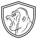 Gorilla Mascot Tattoo Images libres de droits