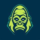 Gorilla Mascot Vector Icon illustrazione di stock