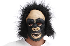 Gorilla Mask. Man With Horrify Gorilla Mask Royalty Free Stock Photography