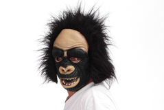 Gorilla Mask. Man With Horrify Gorilla Mask Royalty Free Stock Photo