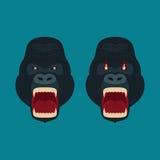 Gorilla Monkey Head Vector Photos stock