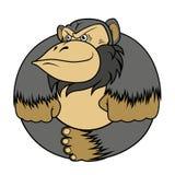 Gorilla monkey stylized as a circle Royalty Free Stock Photos