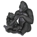 Gorilla motherhood - 3D render Stock Photos
