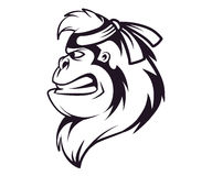 Gorilla ninja head logo Stock Photo