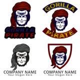 Gorilla Pirate Concept Logo Fotos de archivo libres de regalías