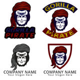 Gorilla Pirate Concept Logo Royalty Free Stock Photos