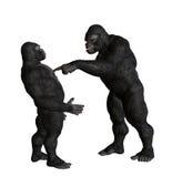 Gorilla Playing Blaming Game Illustration Royalty Free Stock Photos