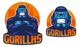 Gorilla pose. Vector of gorilla mascot in crossed arm pose royalty free illustration