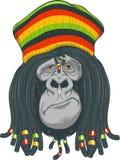 Gorilla Rastafarian Royalty-vrije Stock Afbeeldingen