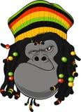 Gorilla Rastafarian Fotografia de Stock