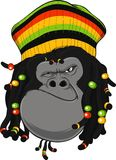 Gorilla Rastafarian Stock Photography