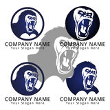 Gorilla Roar Concept Logo Royalty Free Stock Photo