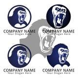 Gorilla Roar Concept Logo Royalty Free Stock Photo