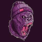 Gorilla Screaming Illustration Stock Fotografie