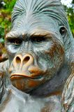 Gorilla statue at San Diego zoo. Close up view of a beautiful gorilla statue at the entrance of San Diego zoo Stock Photos