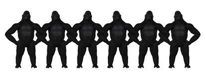 Gorilla Strong Teamwork Arm In-Arm-Illustration Lizenzfreies Stockbild