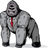 Gorilla in suit. Done in a comic book format Stock Images