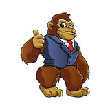 Gorilla in suit Stock Photography