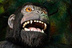 Gorilla in una casa frequentata Fotografie Stock