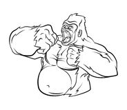 Gorilla Vector Illustration Stock Images