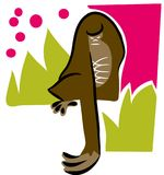 Gorilla vectoreps illustratie Royalty-vrije Stock Afbeelding