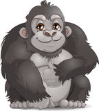 Gorilla. Who is drawn on a white background vector illustration