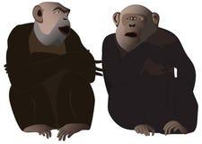 Gorillabespreking Stock Afbeeldingen