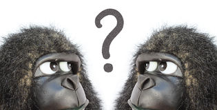 Gorilladenken Stockfotos