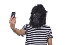 Gorillaman Arkivfoto