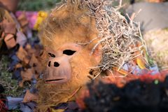 gorillamasker Aliwanfestival 2017, Pasay-Stad, Filippijnen stock foto's