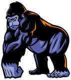 Gorillamaskot Arkivbild