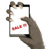 Gorillas big smartphone Stock Photos