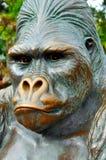 Gorillastaty på den San Diego zoo Arkivfoton