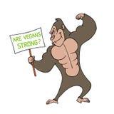 Gorillastrenger vegetarier Stockbild