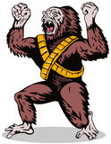 gorillasuperhero Arkivfoto