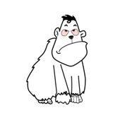 Gorillatecknad film, illustration Royaltyfri Fotografi