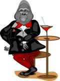 Gorille à l'uniforme Image libre de droits