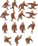 Gorille de bande dessinée illustration de vecteur