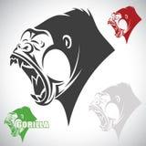 Gorille fâché Photographie stock