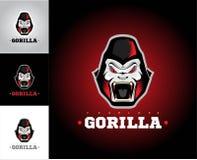 Gorille Gorilla Face Tête de gorille illustration de vecteur