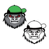 Gorille utilisant un chapeau illustration de vecteur