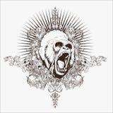 Gorillla-Vektor für Tätowierungsentwürfe, T-Shirt Entwürfe, Logoentwürfe, Ikonenentwürfe lizenzfreie abbildung