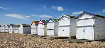 Goring Beach Huts. Beach huts at Goring, Sussex, UK Royalty Free Stock Photo