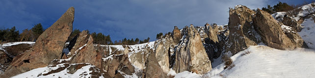 Goris rocks panorama in Armenia Stock Photography